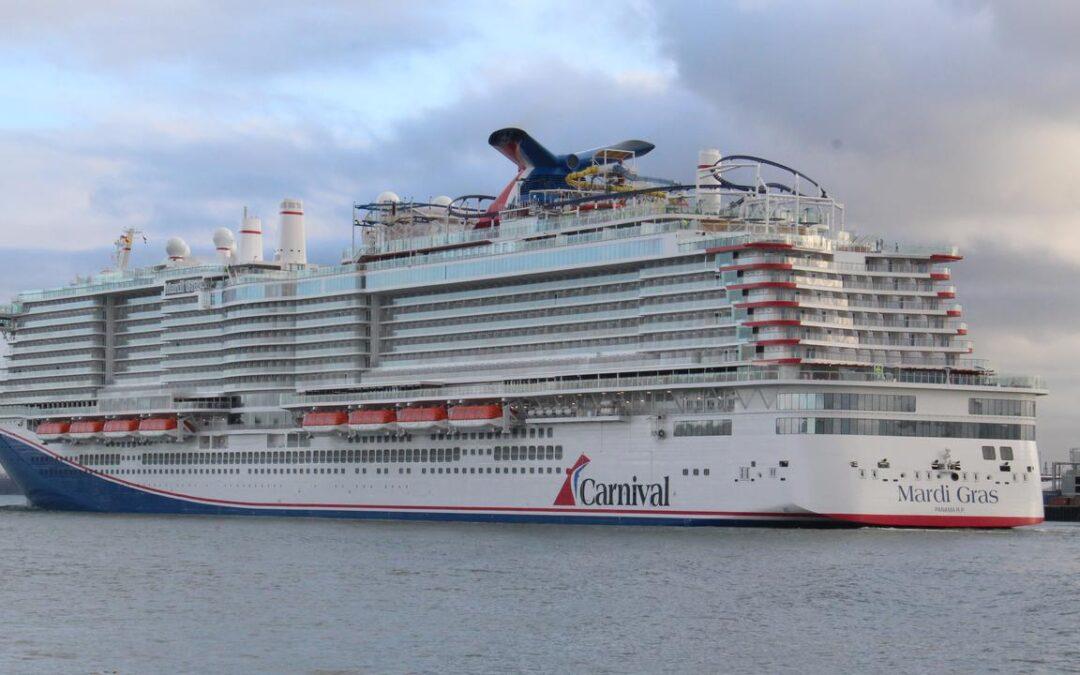 El crucero Mardi Gras de Carnival arribará a Puerto Plata en este mes